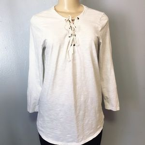 Old Navy Women's Long Sleeve Top Off White Sz M